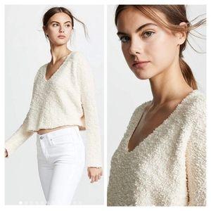 Free People Popcorn Cream Pullover Sweater XS